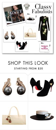 """Black and white world"" by lamiacara ❤ liked on Polyvore featuring Christian Louboutin, Chanel, Dolce&Gabbana and blackandwhiteworld"