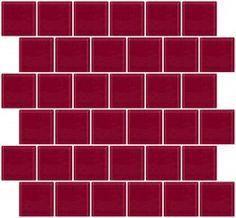 2x2 Inch Burgundy Glass Tile Offset