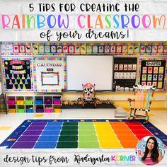 Kindergarten Classroom Setup, First Grade Classroom, New Classroom, Kindergarten Reading Corner, Neon Classroom Decor, Toddler Classroom Decorations, Classroom Ideas, Elementary Classroom Themes, Classroom Organization