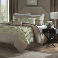 textured bedding set in neutral colors