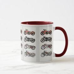 VINTAGE MOTORCYCLES MUG   riding motorcycle quotes, biker garage, biker guy bad boys #bikers #shoutout #bikerschick, 4th of july party Cool Motorcycles, Vintage Motorcycles, Biker Birthday, Harley Davidson Birthday, Biker Accessories, Biker Tattoos, Motorcycle Quotes, Motorcycle Design, Biker Chick