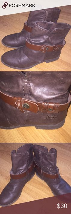 Blowfish Brown Leather Ankle Boots Perfect boots! Very comfortable! Blowfish Shoes Ankle Boots & Booties