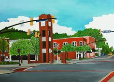Clock Tower, Simpsonville, SC My Simpsonville Painting is now available in the shop. Time to start Christmas shopping!