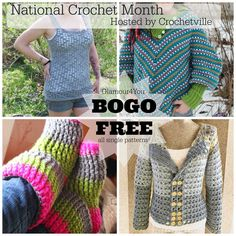 Buy One Get One FREE crochet patterns for a limited time from designer Ann Mancini-Williams. Celebrating National Crochet Month on The Crochet Express Blog Tour! #NatCroMo #blogtour #crochet #crochetpatterns