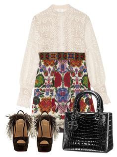"""""""Untitled #1539"""" by monique-d on Polyvore featuring Anna Sui and Christian Louboutin"""