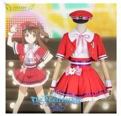 The Idol Master Cinderella Girls Shimamura Uzuki Stage Performance Cosplay Costume , Perfect Custom For You ! #Affiliate