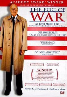 """The Fog of War: Eleven Lessons from the Life of Robert S. McNamara"" Directed by Errol Morris. Robert Mcnamara, The Fog Of War, Academy Award Winners, Academy Awards, Best Documentaries, Best Director, Tv Shows Online, Documentary Film, Vietnam War"
