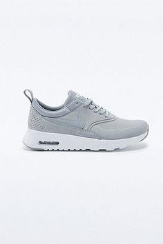 nike air max thea grey nubuck leather trainers women's