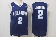 67d0698f57fe Villanova Wildcats 2 Kris Jenkins Navy College Basketball Jersey