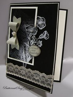 Donna Centamore: Butternut Sage Designs – BOW BUILDER PUNCH - 2/3/15 (SU: Bow Builder Punch.  stamp: Butterfly Basics (2015 Occ.)  (Pin#1: Flowers: SU-Stamps...  Pin+: Mono: Black & White &...)