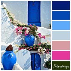 Color palette Colors of Santorini