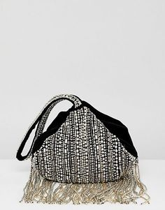 Buy Accessorize embellished fringed bag at ASOS. With free delivery and return options (Ts&Cs apply), online shopping has never been so easy. Get the latest trends with ASOS now. Asos, People Born In April, Silver Bags, Fringe Bags, Moda Online, Luxury Jewelry, Gifts For Friends, Birthstones, Diamond Jewelry