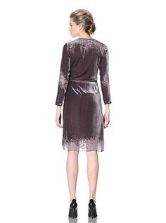 Cynthia Rowley Women's Long Sleeve Disintegrated Velvet Dress at MYHABIT