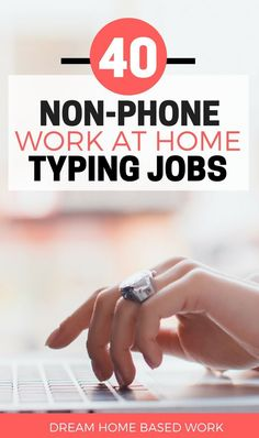 Cash Discover Best 40 Non-Phone Work at Home Online Typing Jobs ( General Medical & Legal) Are you looking for a work at home typing job? These 20 legit typing companies may hire you for data entry medical legal or general transcription. Earn Money From Home, Earn Money Online, Way To Make Money, Online Income, Online Survey, Quick Money, Home Based Work, Work From Home Moms, Online Typing Jobs