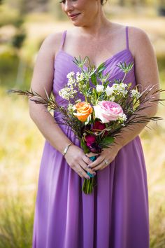 Colorful Rustic Bohemian Fall Wedding in the Mountains Photographer: Cimbalik Photography