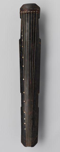 Qin, Ming dynasty (1368–1644), 1634. China. Wood, lacquer, jade, silk strings…