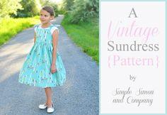 Simple Simon & Company: The Vintage Sundress Pattern - Free Girls Sz. 3-8 Pattern