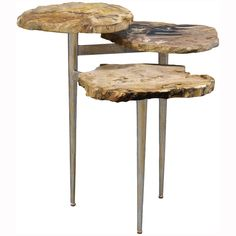 Palecek Petrified Wood Tiered Table