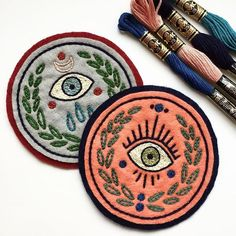 Grand Sewing Embroidery Designs At Home Ideas. Beauteous Finished Sewing Embroidery Designs At Home Ideas. Embroidery Designs, Embroidery Art, Cross Stitch Embroidery, Diy Patches, Pin And Patches, Sewing Patches, Art Textile, Embroidery Patches, Diy Embroidered Patches