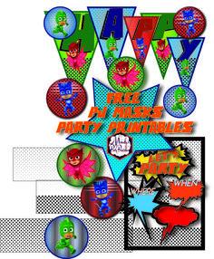 Free PJ Masks Birthday Party Printables via Mandy's Party Printables