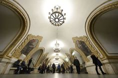 15 statii de metrou incredibile din intreaga lume 14. Statia Kievskaya, Moscova,   14 din 15