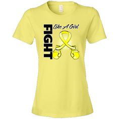 Sarcoma Fight Like a Girl Women's Fashion T-Shirts featuring boxing gloves shaped into an awareness ribbon #fightlikeagirl #fightlikeagirlshirts #sarcomaawareness