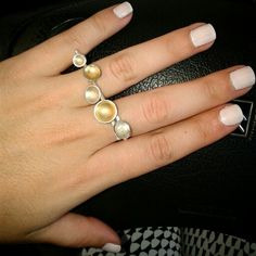 Two-finger silver ring! Finger, Silver Rings, Pearl Earrings, Pearls, Jewelry, Pearl Studs, Jewlery, Jewerly, Fingers