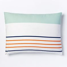 Blocks + Stripes Duvet Cover + Pillowcases - Lagoon
