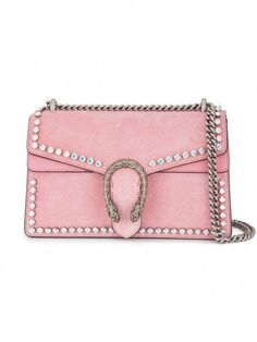 f06c9c3c7fa Shop Gucci Pink Dionysus Crystal suede shoulder bag from our Shoulder Bags  collection.
