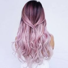 Soft pink ombre locks.