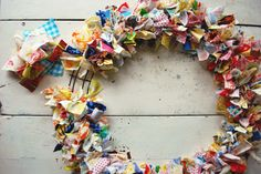 The Art of Homemaking: Scrap Fabric Wreath DIY