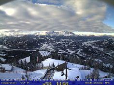 Kitzbuhel webcam Blick vom Hahnenkamm zum Wilden Kaiser Skiweather.eu