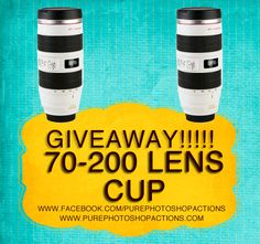 Enter to win a Canon 70-200 LENS CUP!!!  Seriously how cool is this! Photography, one of my favorite art forms
