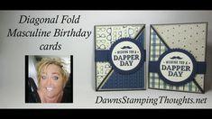 Diagonal Fold Masculine Birthday cards - YouTube