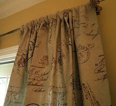 French Script Curtain Panels Pretty Fab Find Somewhere