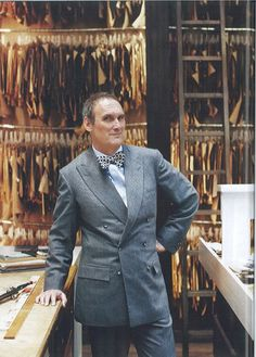 AA Gill gets bespoked in Savile Row. Images from gourmettraveller.com.au