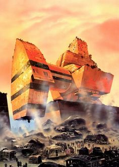 Chris Foss, Earth is Room Enough by Isaac Asimov, Panther, 1986.