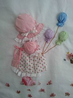 An Idea to go with Sunbonnet Sue . Applique Patterns, Applique Quilts, Applique Designs, Quilt Patterns, Embroidery Designs, Sunbonnet Sue, Crazy Quilting, Patchwork Quilting, Girls Quilts