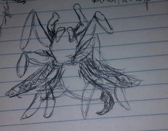 Tarantuwasp (tarantula + wasp), the stuff of nightmares. These are just fun doodles I drew from memory of what the single creatures looked like, and just mashed them together. If I was trying to be accurate, I would've looked up references, but I'm lazy amd it's late (or technically early).