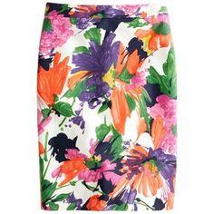 No. 2 Pencil Skirt In Garden Floral