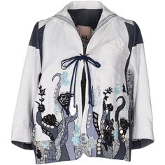 Antonio Marras Blazer (£408) ❤ liked on Polyvore featuring outerwear, jackets, blazers, white, multi color jacket, sequined blazer, multi colored jacket, white sequin jacket and white blazer jacket