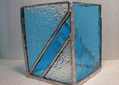 Photophore turquoise en vitrail Tiffany, Déco, Luminaires - PrimaCréa