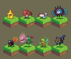 #pixelart monsters