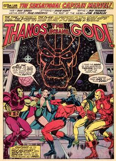 Splash Page From CAPTAIN MARVEL#32(May 1974),art by Jim Starlin.