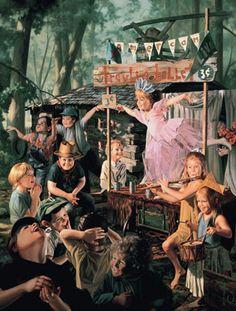 """""""Traveling Ballet"""", by American artist - Bob Byerley (1941- ), Oil on board."""