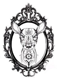 Deer Tattoo by TheFranology.deviantart.com on @deviantART