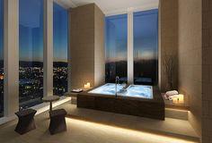 Beautifully Admirable Hot Tub Room Decor Ideas - Page 14 of 24 Dream Bathrooms, Dream Rooms, Beautiful Bathrooms, Contemporary Bathrooms, Luxury Apartments, Luxury Homes, Luxury Penthouse, Hot Tub Room, Bath Room