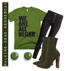 """""""Walking Dead Wednesday"""" by imyandme on Polyvore featuring Mortal Threads, H&M, and Steve Madden #walkingdead"""