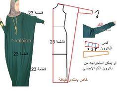 regular dress pattern into caftan