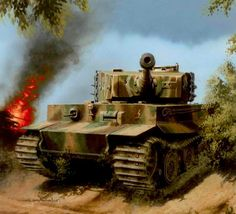 "PZ. VI Tiger de la 1ª Div. SS ""Leibstandarte AH"", Normandia, junio de 1.944. Más en www.elgrancapitan.org/foro/"